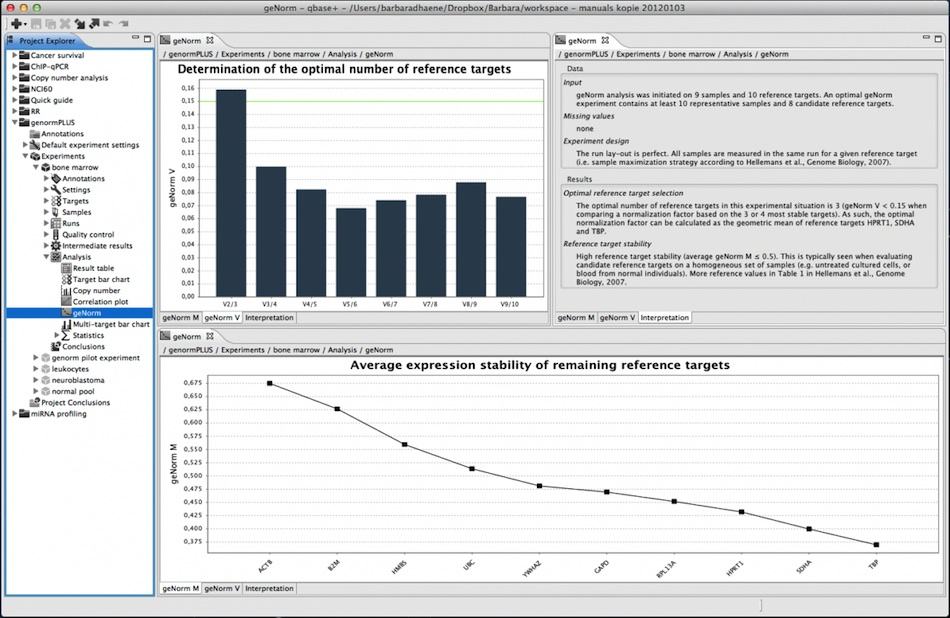 qbase+ geNorm analysis screenshot